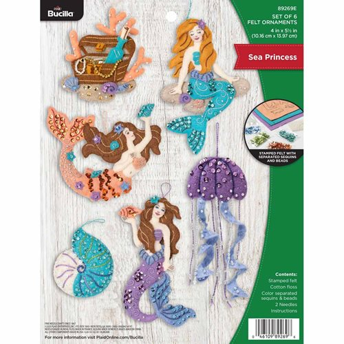 Bucilla ® Seasonal - Felt - Ornament Kits - Sea Princess - 89269E