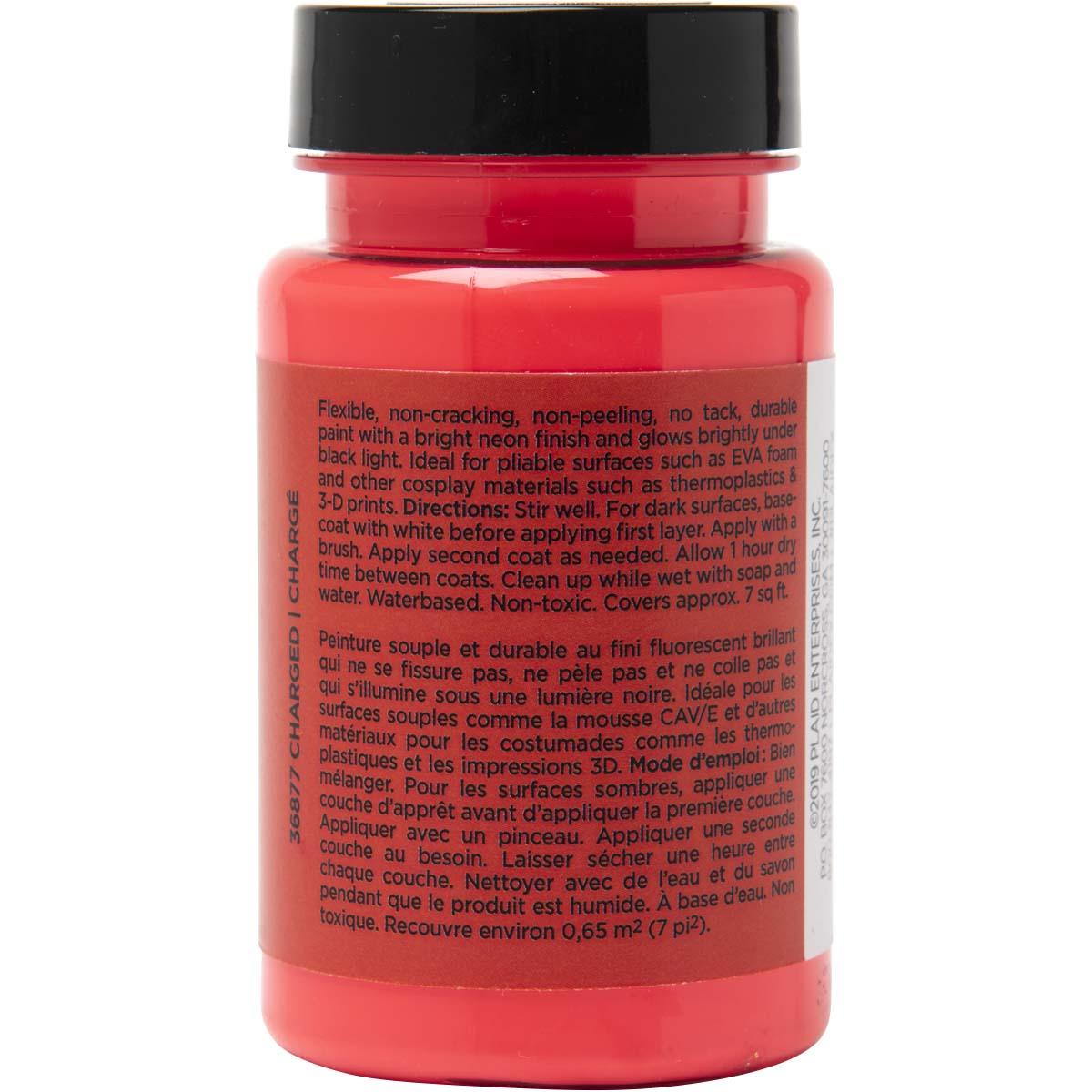 PlaidFX Nuclear Neon Flexible Acrylic Paint - Charged, 3 oz. - 36877