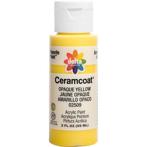 Delta Ceramcoat ® Acrylic Paint - Opaque Yellow, 2 oz.