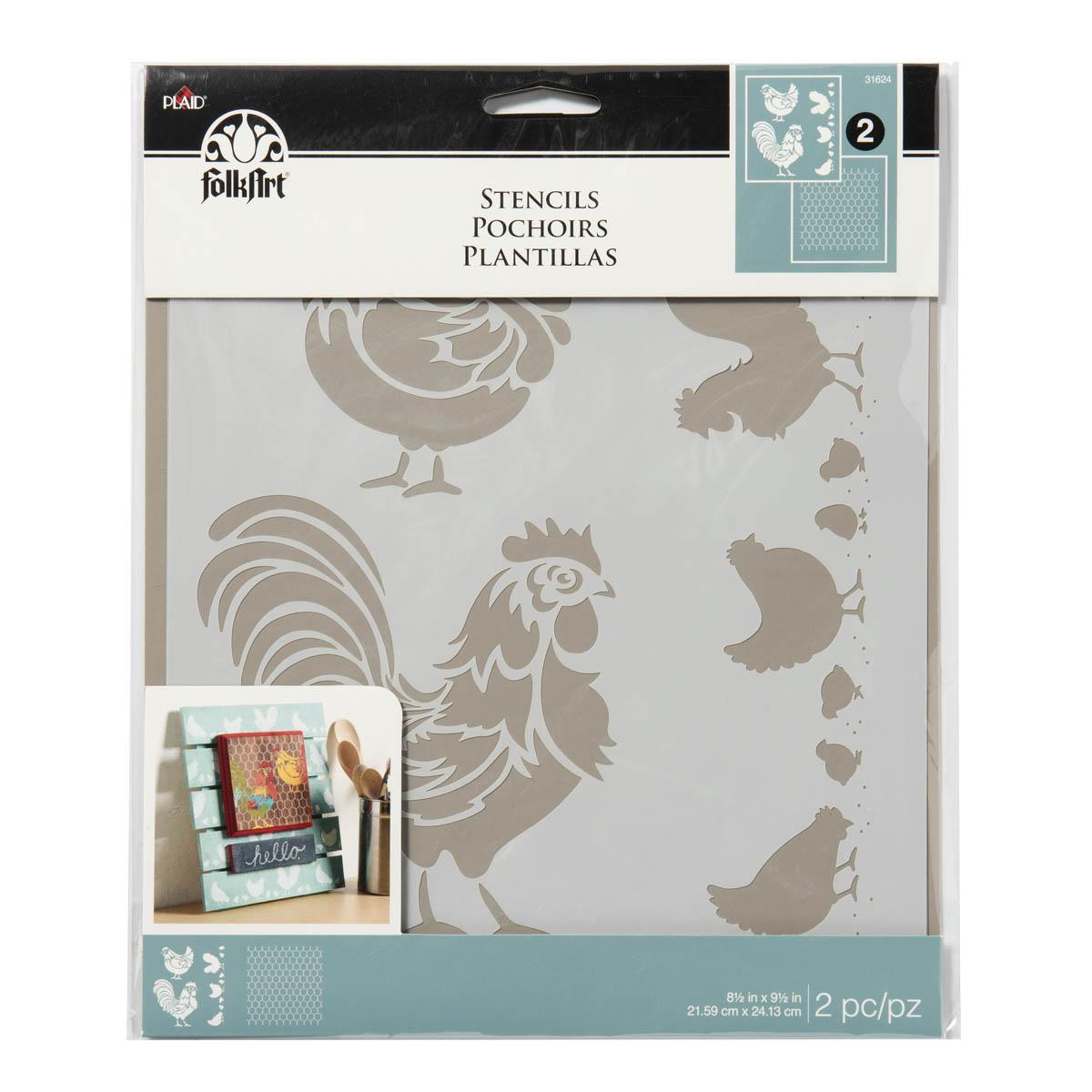FolkArt ® Painting Stencils - Chicken Coop - 31624