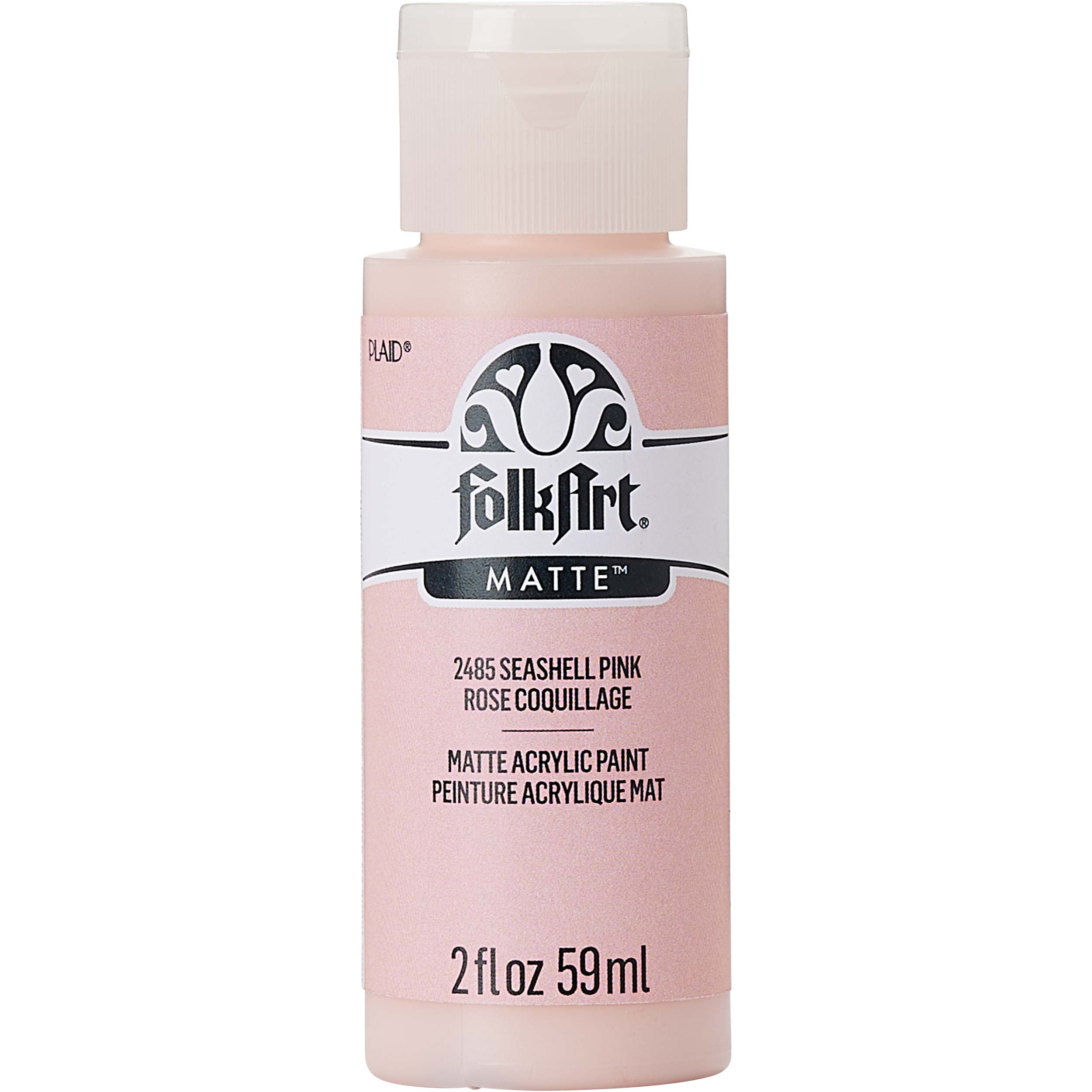 FolkArt ® Acrylic Colors - Seashell Pink, 2 oz. - 2485