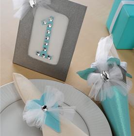 Glittery Wedding Place Setting