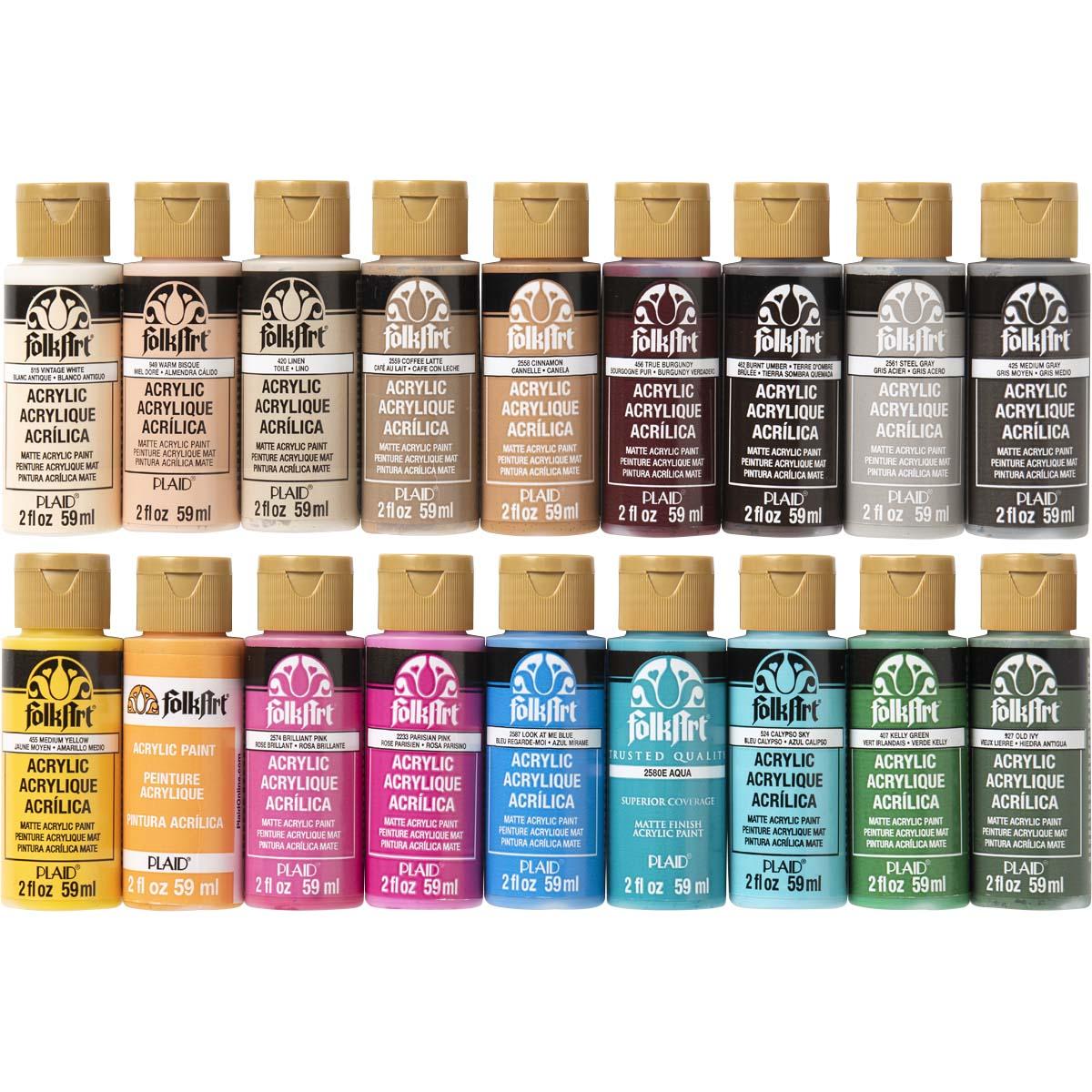 FolkArt ® Acrylic Colors Best Sellers 18 pc, Set 2 - PROMOFAII
