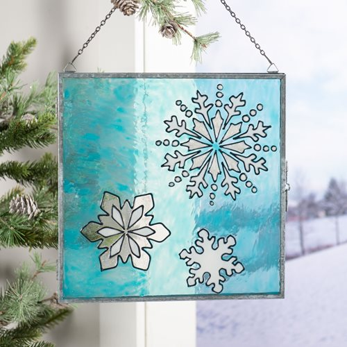 Gallery Glass Snowflake Frame Trio