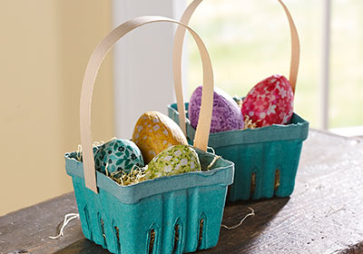 Homemade Paper Mache Easter Egg Baskets