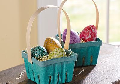 Homemade Paper Mache Easter Egg Baskets