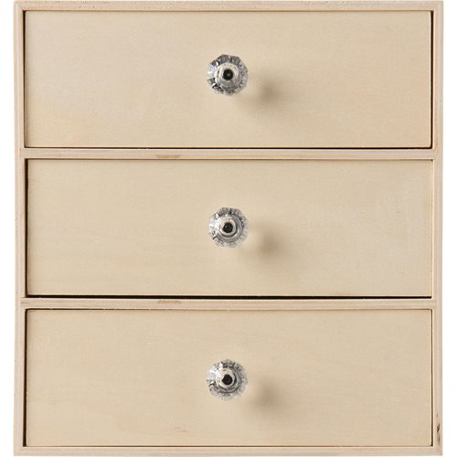 Plaid ® Wood Surfaces - Wood Chest, 3 Drawer