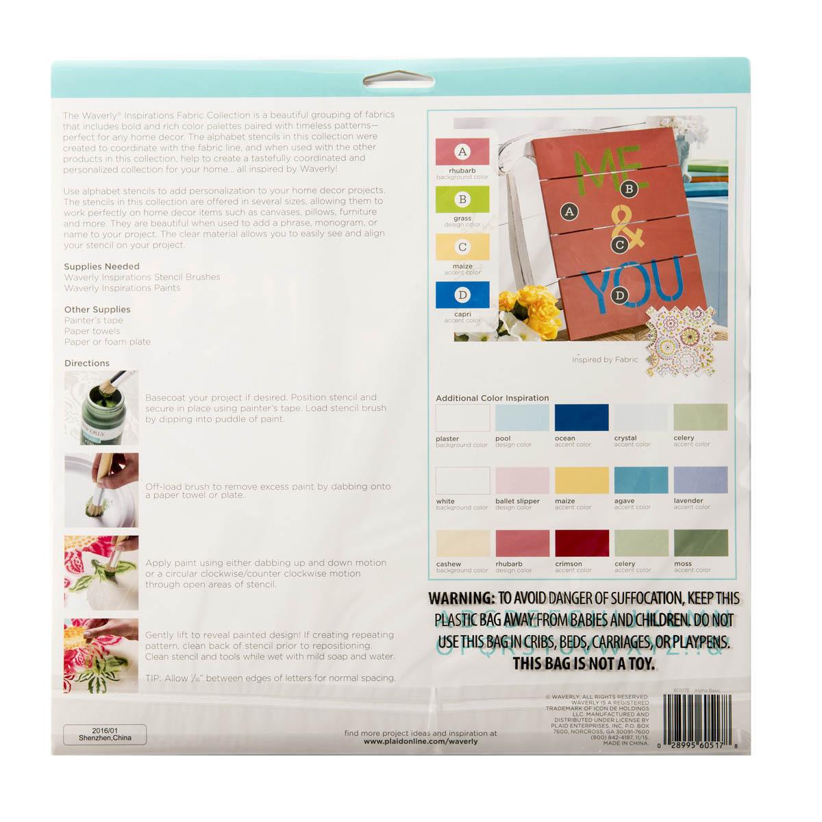 Waverly ® Inspirations Stencils - Decor - Alpha Basic, 12