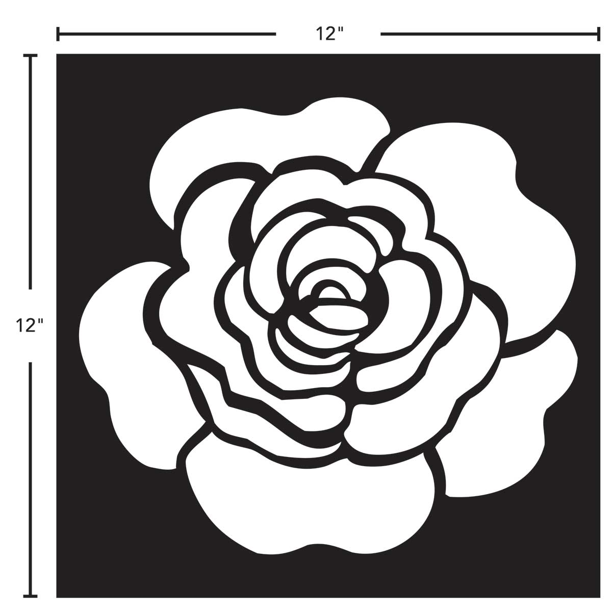 FolkArt ® Painting Stencils - Adhesive Laser - Rose - 63276