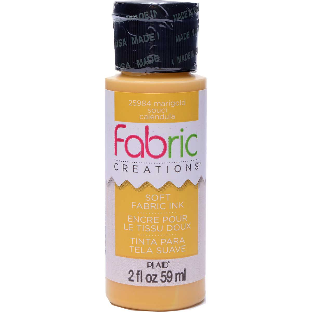 Fabric Creations™ Soft Fabric Inks - Marigold, 2 oz.