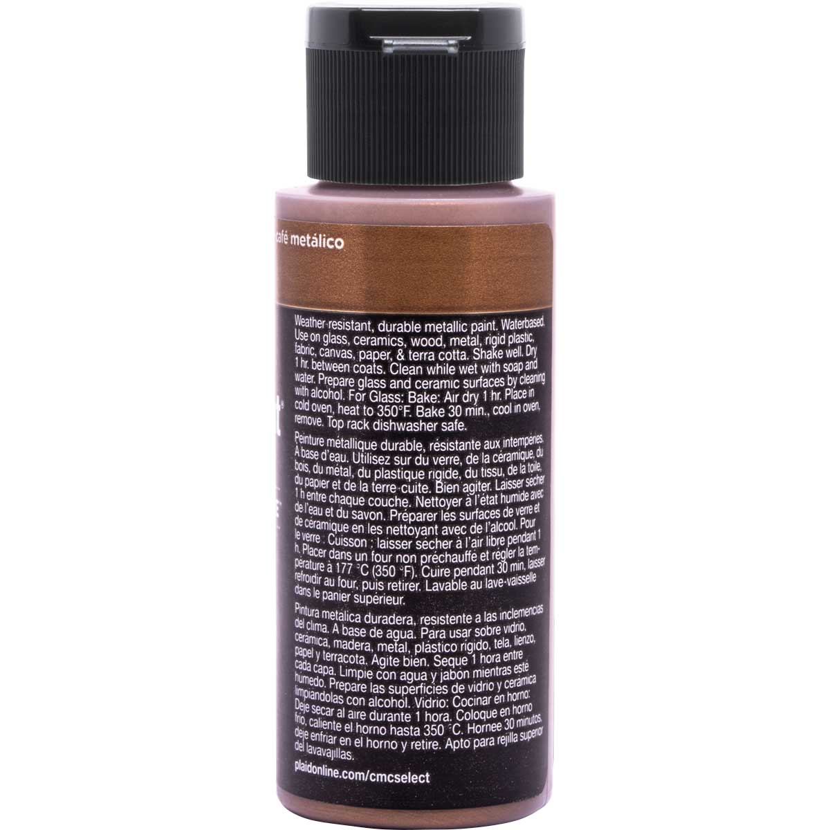 Delta Ceramcoat ® Select Multi-Surface Acrylic Paint - Metallic - Coffee, 2 oz. - 04107