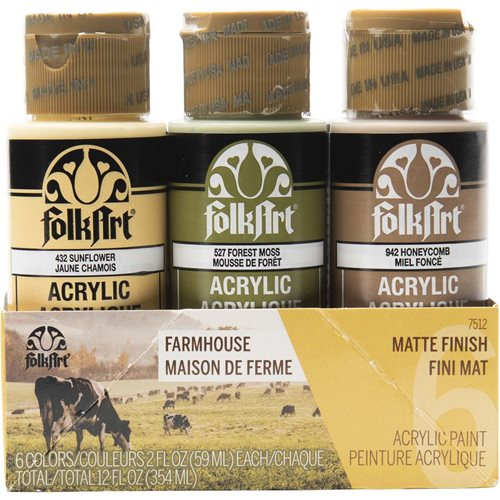 FolkArt ® Acrylic Colors Paint Set 6 Color - Farmhouse - 7512
