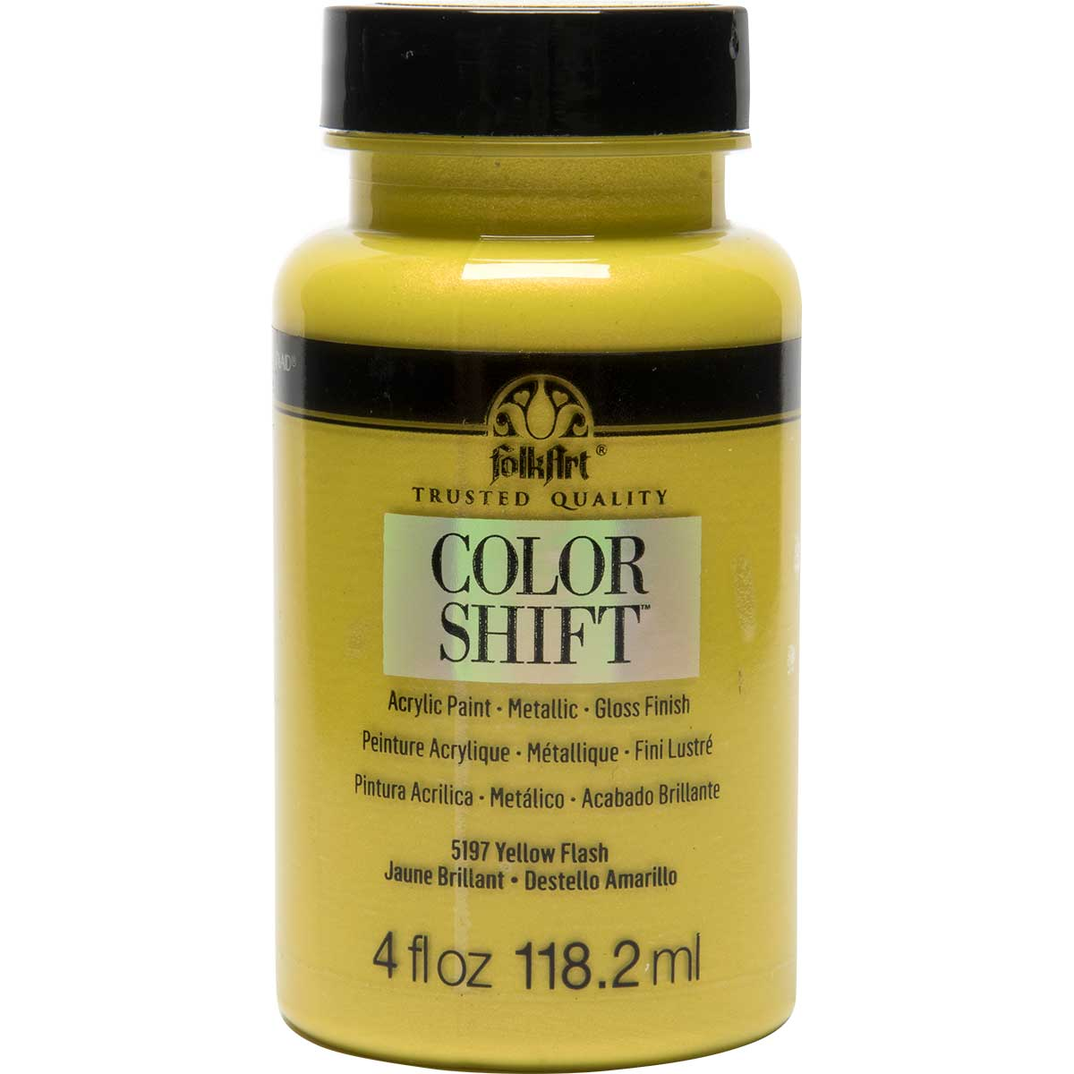 FolkArt ® Color Shift™ Acrylic Paint - Yellow Flash, 4 oz.