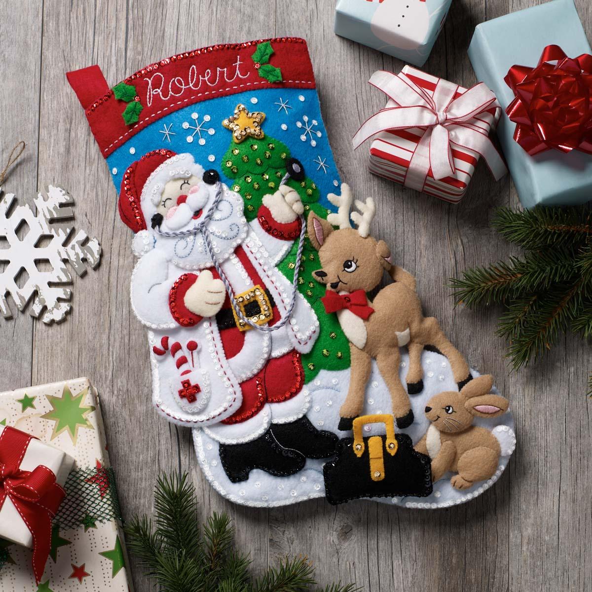 Bucilla ® Seasonal - Felt - Stocking Kits - Doctor Santa - 89325E