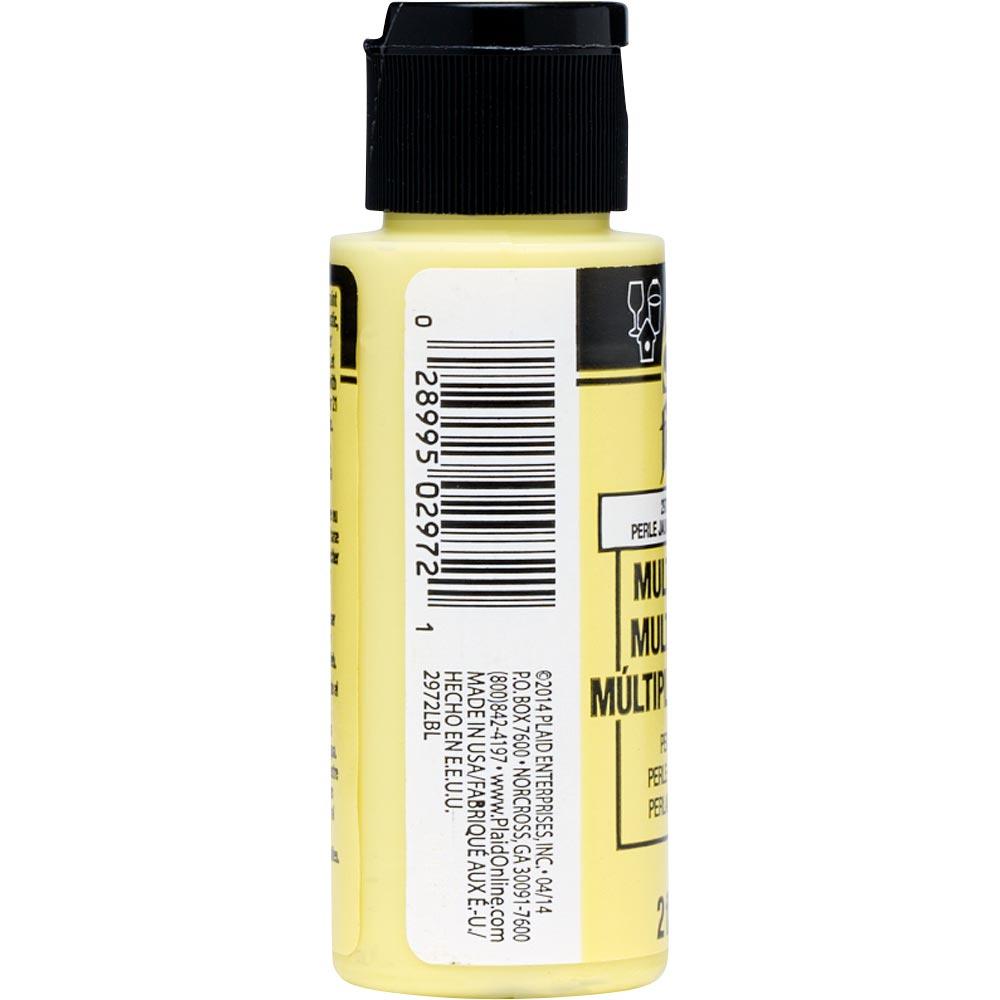 FolkArt ® Multi-Surface Pearl Acrylic Paints - Lemon Silk, 2 oz. - 2972