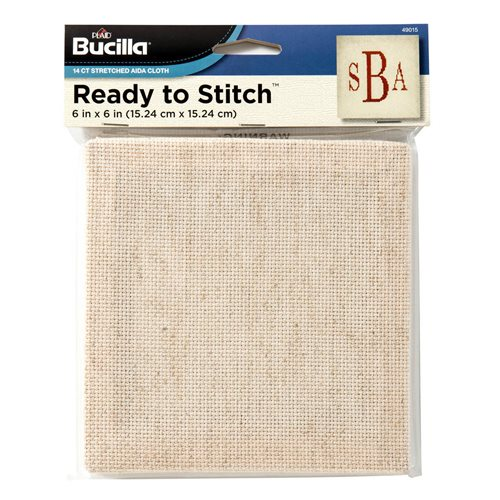 "Bucilla ® Ready to Stitch™ Blanks - Counted Cross Stitch - Oatmeal, 6"" x 6"" - 49015"