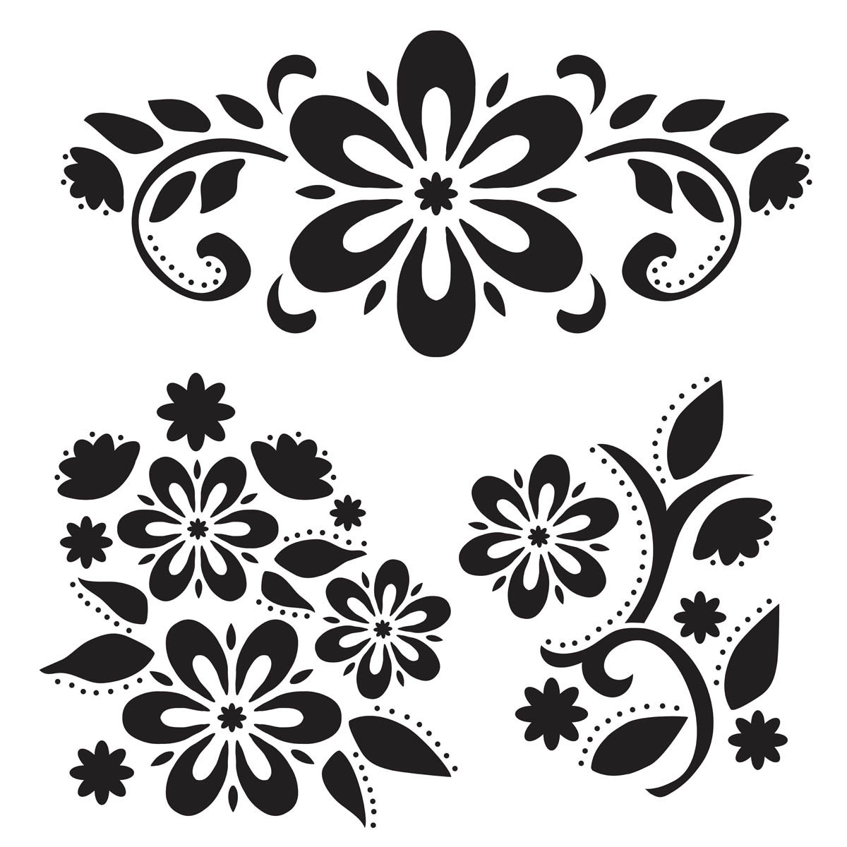 FolkArt ® Painting Stencils - Large - Debbie's Floral