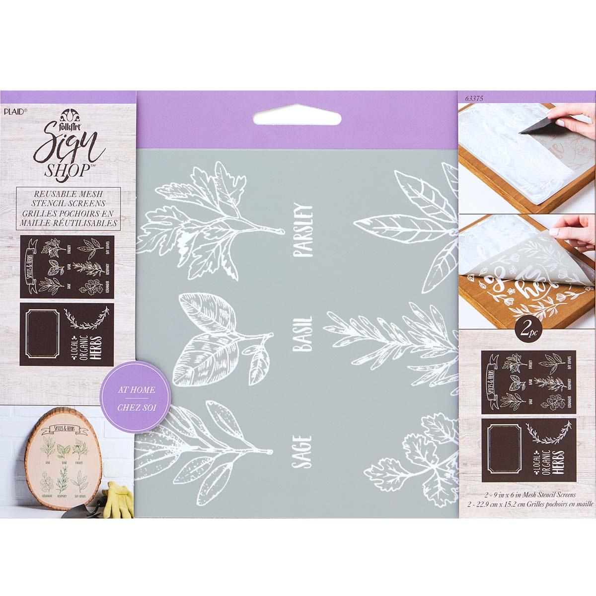 FolkArt ® Sign Shop™ Mesh Stencil - Spices & Herbs, 2 pc. - 63375