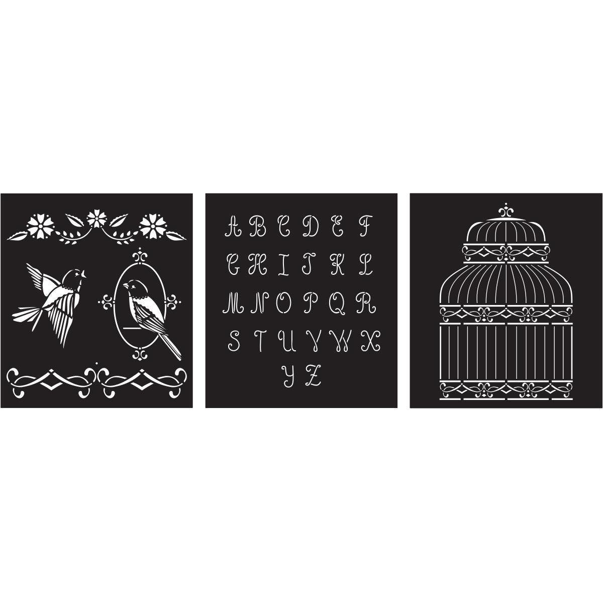 FolkArt ® Craft Stencils - Value Packs - Birdcage