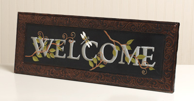 Welcome Vine Canvas