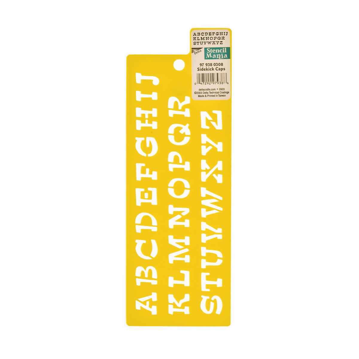 Delta Stencil Mania™ - Alphabet - Sidekick Caps
