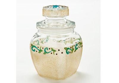 Gold Glitter Apothecary Jar