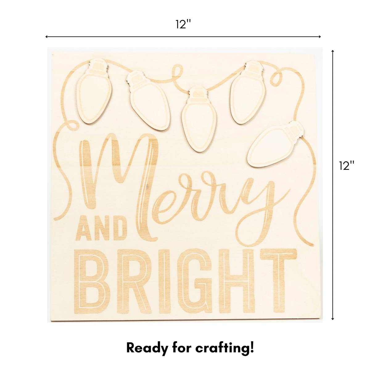Plaid ® Wood Surfaces - Merry and Bright Celebration Frame and Plaque - 56979