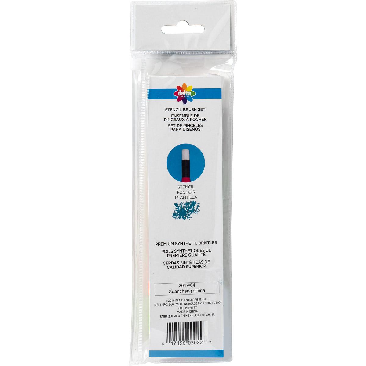 Delta Ceramcoat ® Brush Sets - Stencil Set, 3 pc.