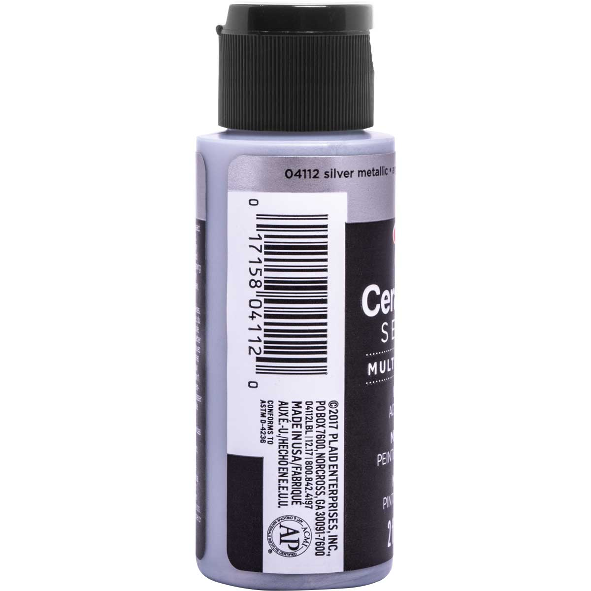 Delta Ceramcoat ® Select Multi-Surface Acrylic Paint - Metallic - Silver, 2 oz.