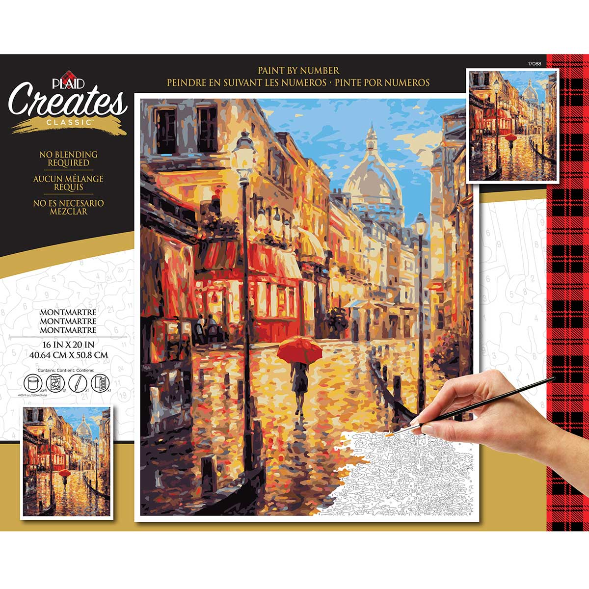 Plaid ® Paint by Number - Montmartre