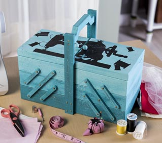 Painted Sewing Box