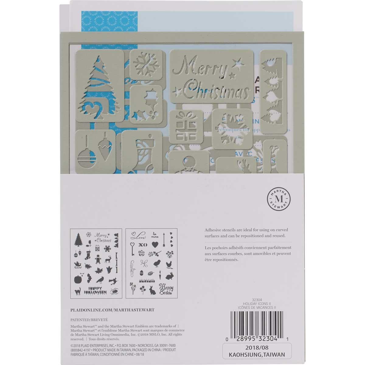 Martha Stewart® Holiday Icons II Adhesive Stencils