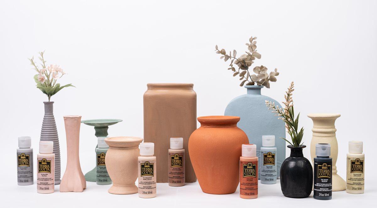 Trash to Terra Cotta Vases & Decor