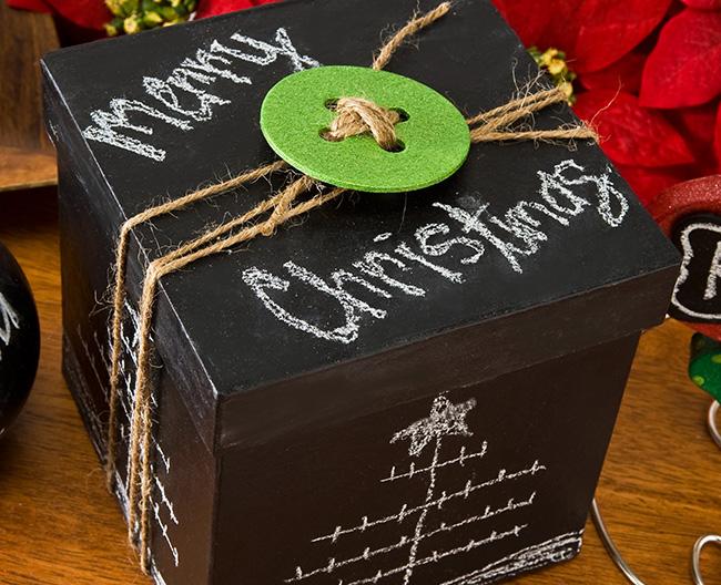 Christmas Chalkboard Present