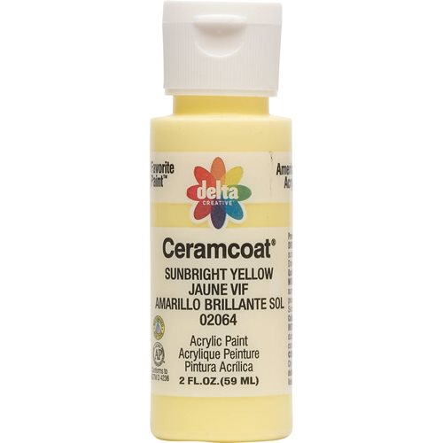 Delta Ceramcoat ® Acrylic Paint - Sunbright Yellow, 2 oz.