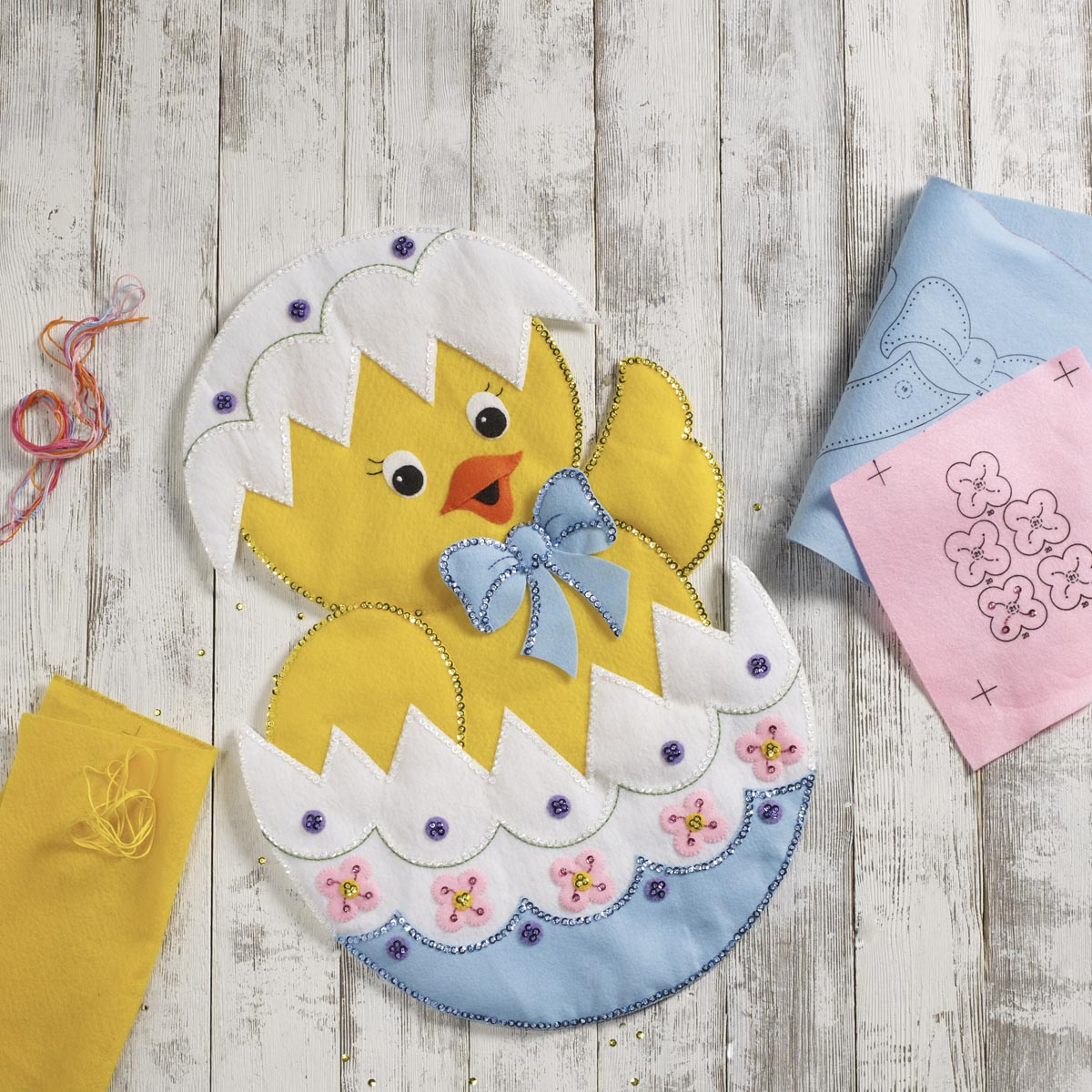Bucilla ® Seasonal - Felt - Home Decor - Door/Wall Hanging Kits - Easter Chick
