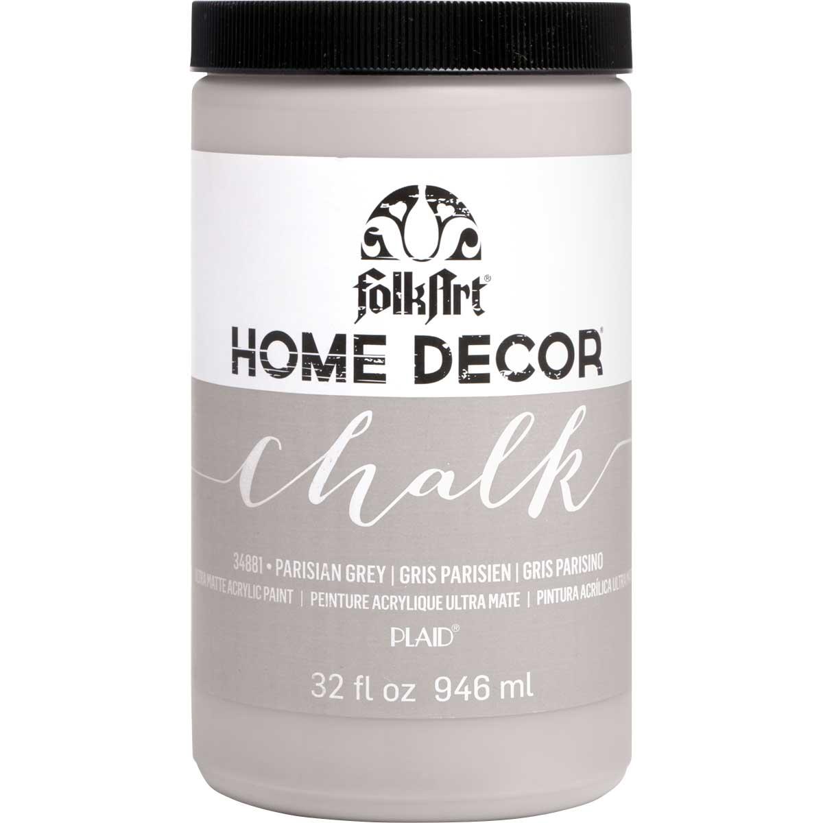 Shop Plaid Folkart Home Decor Chalk Parisian Grey 32 Oz 34881 34881 Plaid Online