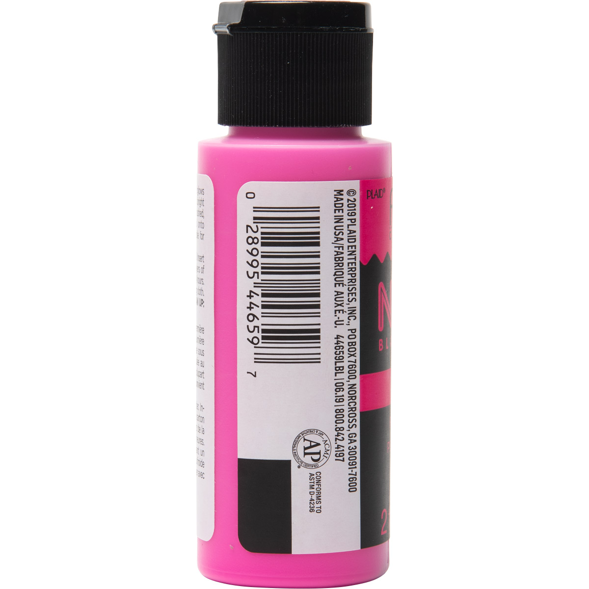 Fabric Creations™ Neon Black Light Fabric Paint - Pink, 2 oz. - 44659