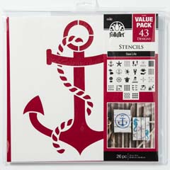 "FolkArt ® Stencil Value Packs - Sea Life, 12"" x 12"" - 31559E"
