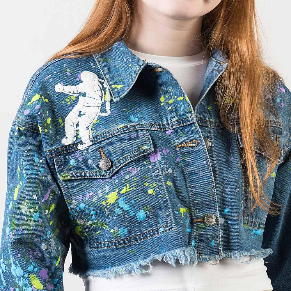 Galaxy Gurl Cropped Denim Jacket