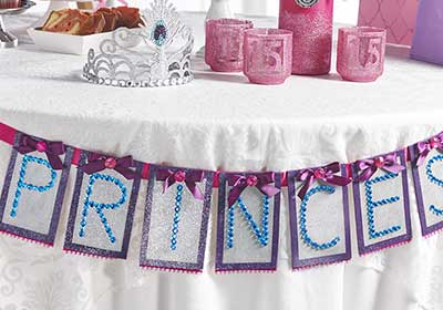 DIY Quinceanera Banner Decoration