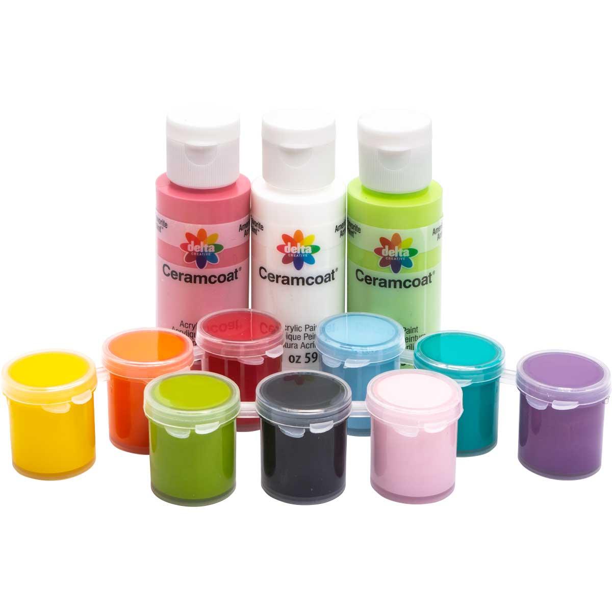 Delta Ceramcoat ® Paint-A-Project - Celebration, 12 Colors - 028890056