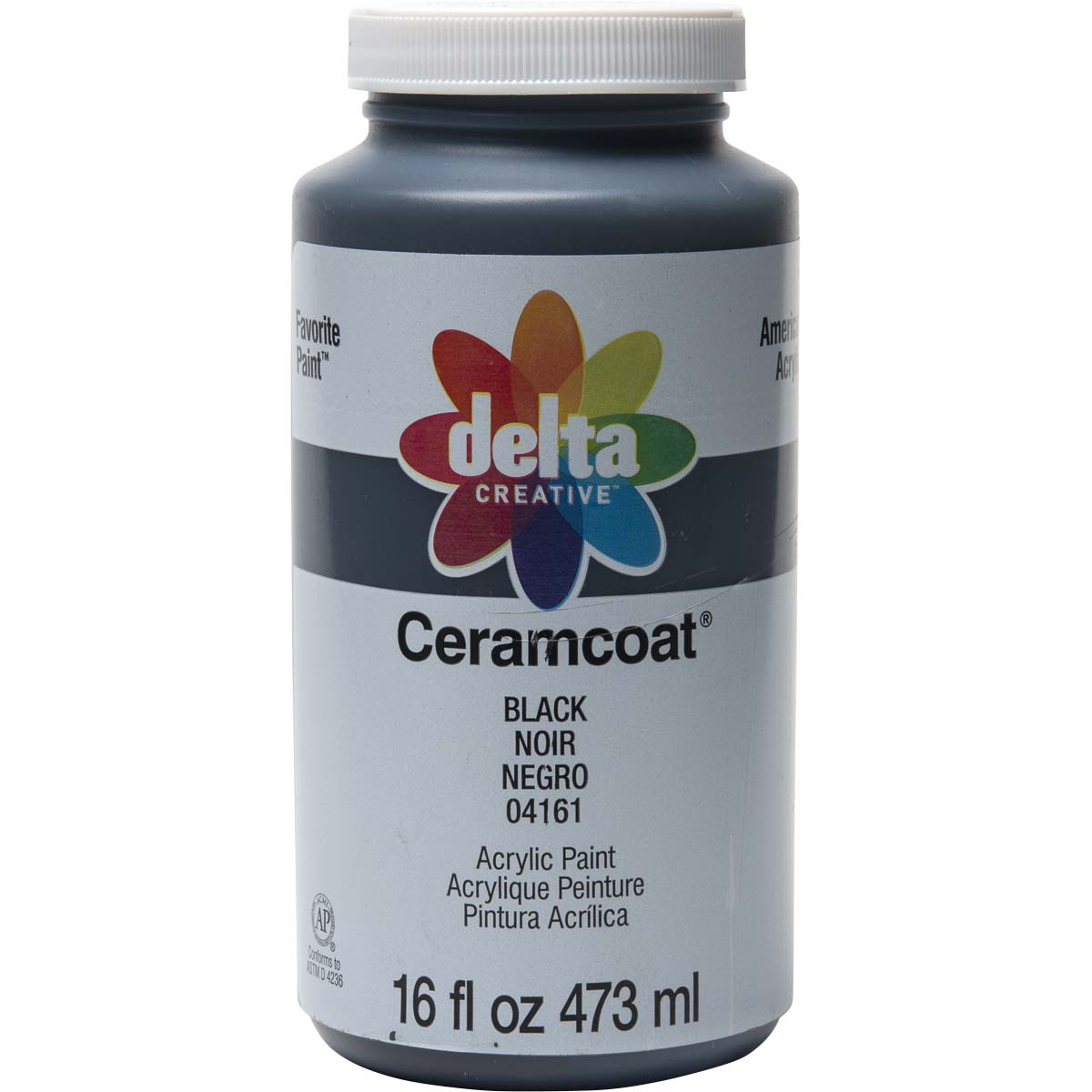 Delta Ceramcoat ® Acrylic Paint - Black, 16 oz. - 04161