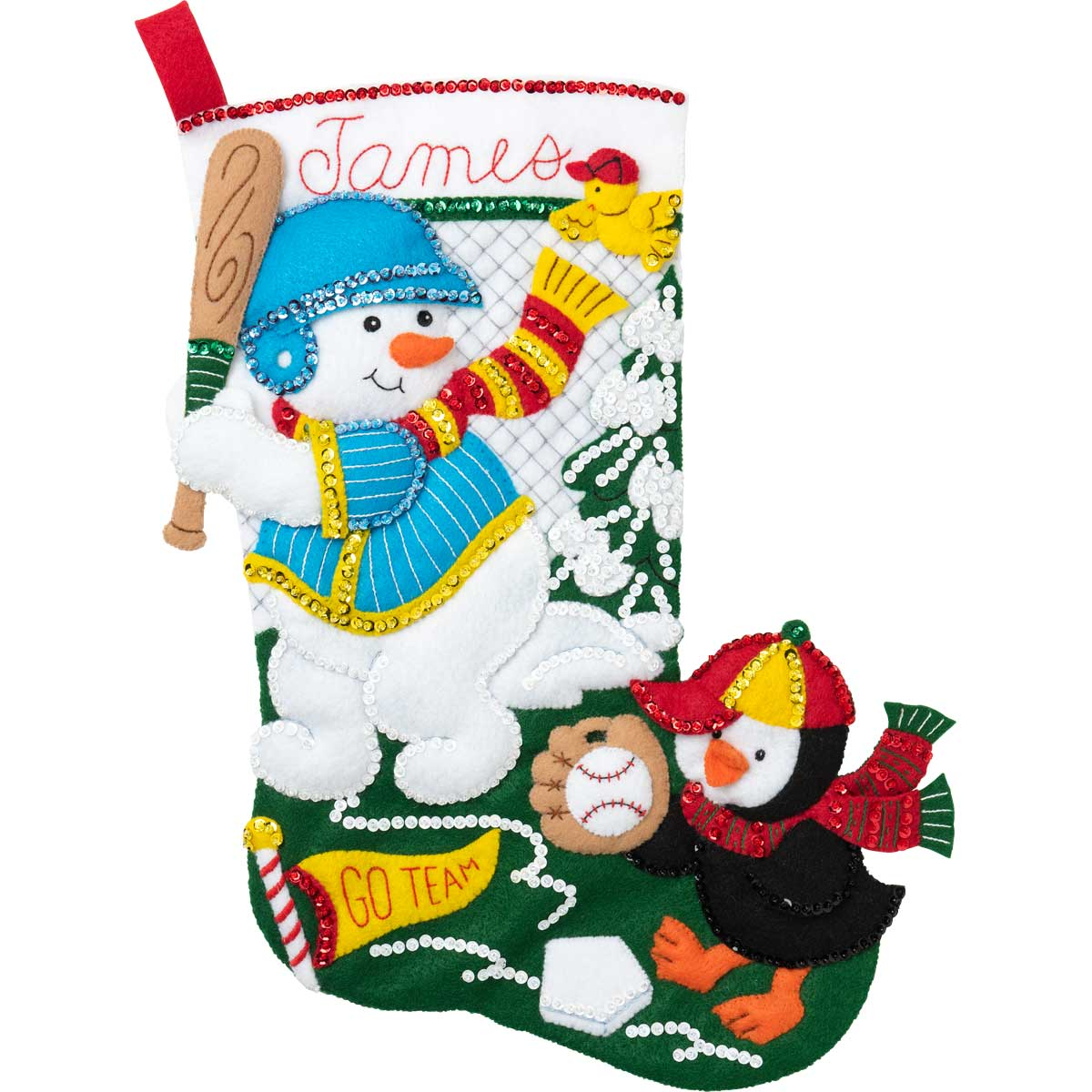 Bucilla ® Seasonal - Felt - Stocking Kits - Baseball Snowman