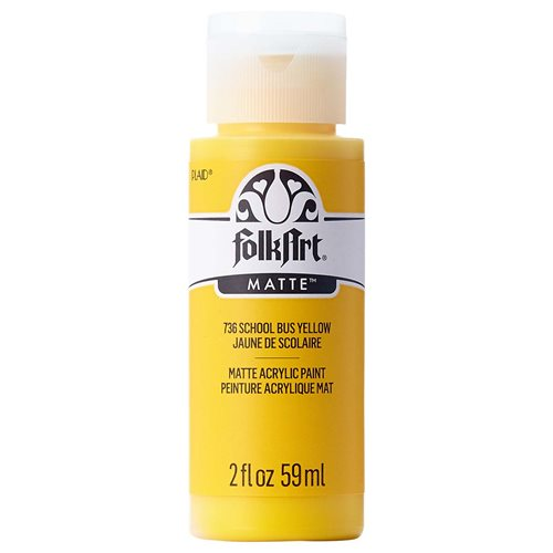 FolkArt ® Acrylic Colors - School Bus Yellow, 2 oz. - 736