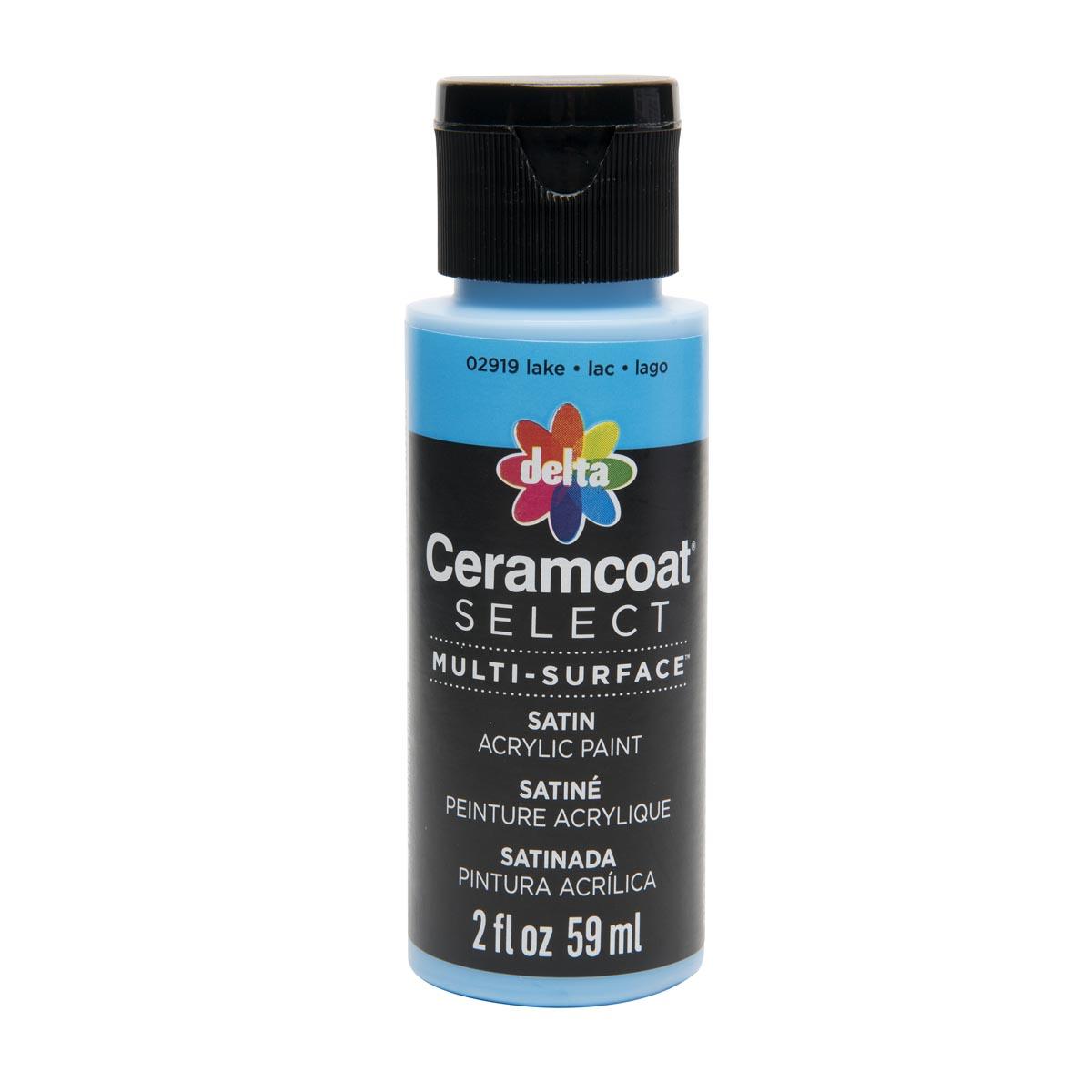 Delta Ceramcoat ® Select Multi-Surface Acrylic Paint - Satin - Lake, 2 oz. - 02919