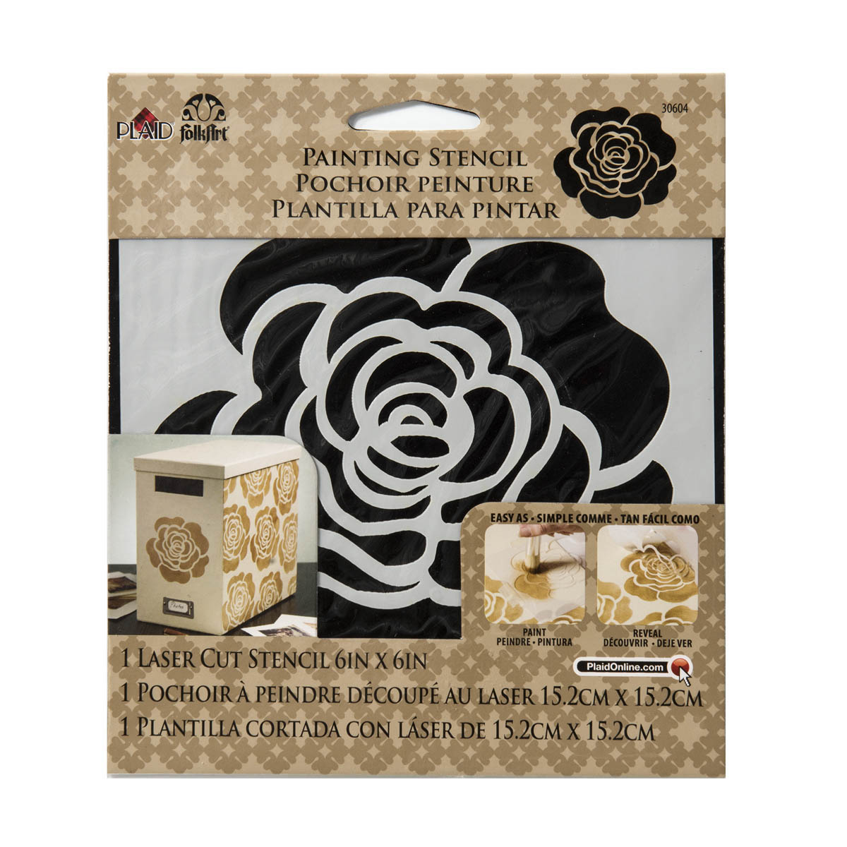 FolkArt ® Painting Stencils - Small - Single Rose - 30604