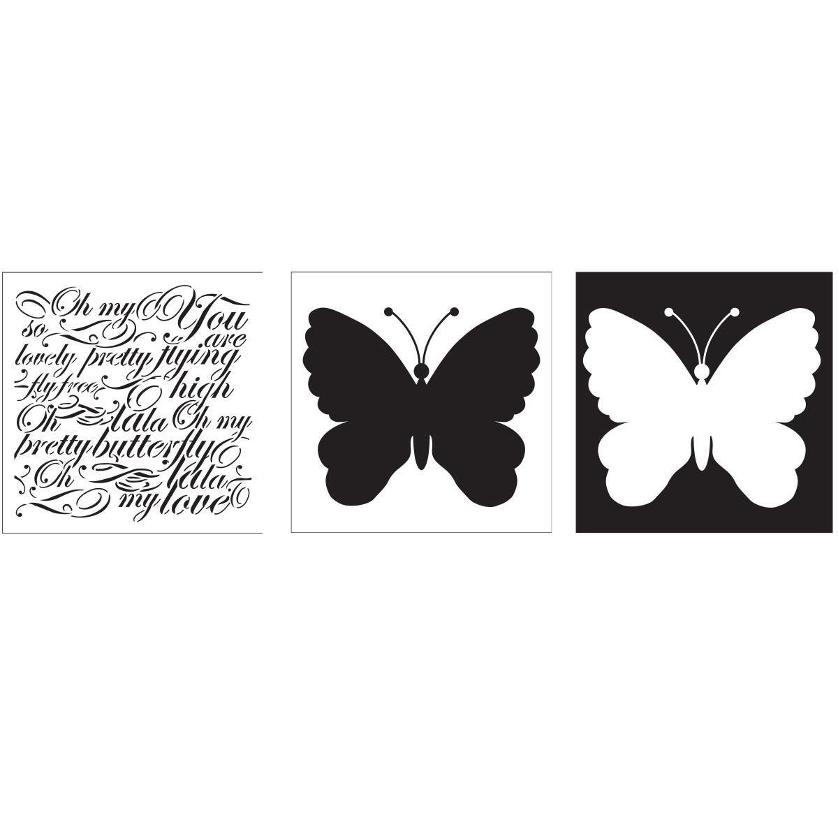 FolkArt ® Layering Stencils - Butterfly