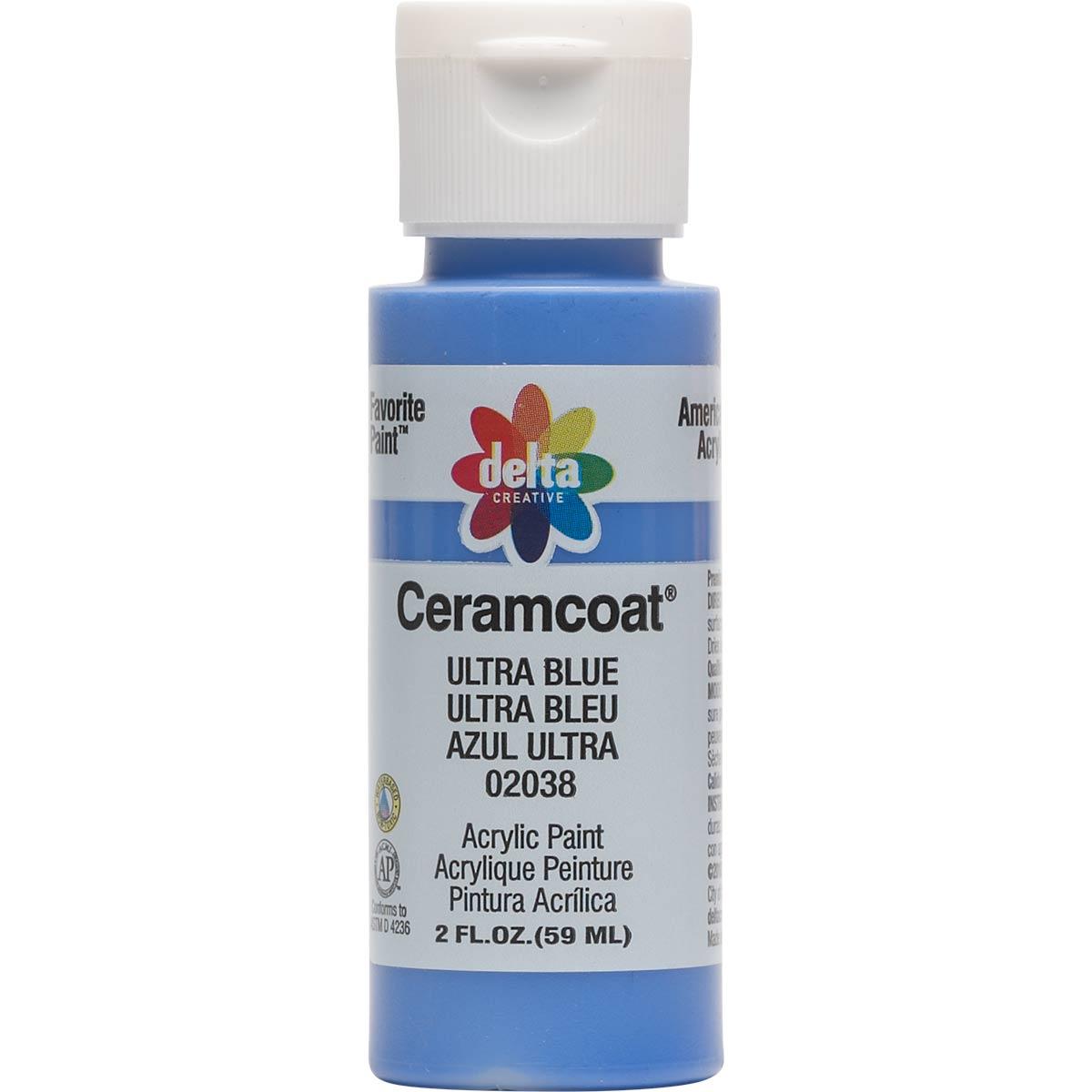 Delta Ceramcoat ® Acrylic Paint - Ultra Blue, 2 oz.