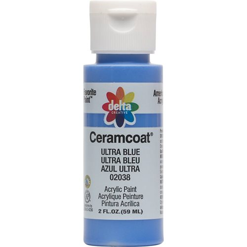Delta Ceramcoat ® Acrylic Paint - Ultra Blue, 2 oz. - 020380202W
